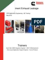 CES AE Training Exhaust Leakage T4F 2013Mar5 Rev0