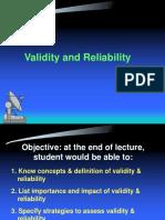 Validity and Realibility