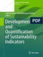 Development and Quantification of Sustainability Indicators