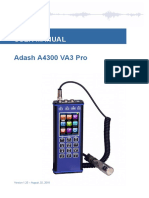 Adash A4300 VA3 Pro Manual