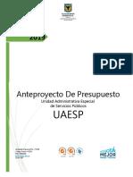Anteproyecto 2019_UAESP