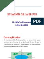 ecuacion de la elipse