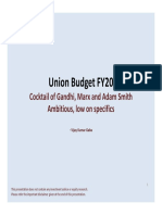 Union Budget FY20