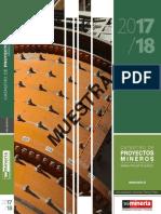 Muestra Catastro Proyectos Mineros 2017 18