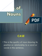 Cases of Nouns