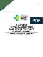16. Sambutan 2 Wisuda Poltekkes Mamuju, Rabu 08 Agustus 18.docx