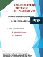 ChE Refresher I November 2017