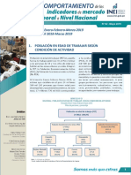 Boletin Indicadores de Mercado Laboral a Nivel Naciona l Ene Feb Mar2019