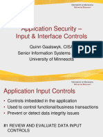 Application Security –Input & Interface Controls