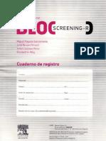 Cuaderno de Registro Bloc Screening Revisado (BLOC-R)