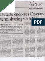 Business Mirror, July 9, 2019, Duterte endorses Cayetano term sharing with Velasco.pdf