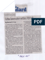 Manila Standard, July 9, 2019, Cebu lawmakers refiles FOI bill.pdf