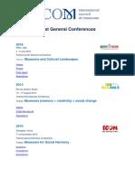 Past General Conferences ICOM