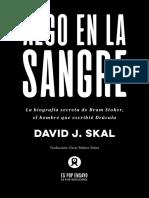 David J. Skal-Algo en La Sangre