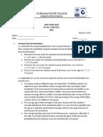 Sample exam on statistictics