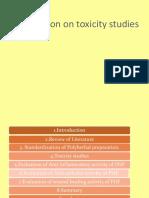 Presentation on Toxicity Studies - Copy