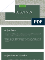 Adjectives Lesson 5