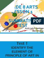 ARTS Lesson 1 Test.pptx