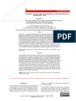 Factor de emisión de CO2 debido a la generación de electricidad en el Ecuador durante el periodo 2001 - 2014