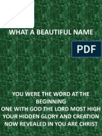 What a Beautiful Name