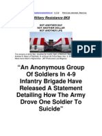 Military Resistance 8K8 an Anonymous Group of Soldiers[1]