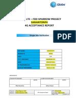 Lte Fdd Sparrow Sananton Ssv Acceptance Report (Sample)
