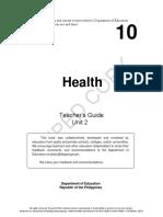Health grade 10 teachers guide