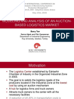 Modeling and Analysis of an Auction-based Logistics Market