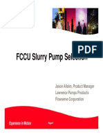 FCCU Slurry Pump Selection Allaire Flowserve FCCU Galveston 2016