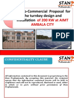 Techno- Commercial Proposal for 200 KWp Rooftop Solar Power Plant at Aimt