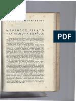 Reseña a Menendez Pelayo y La Filosofia Española de Iriarte - (