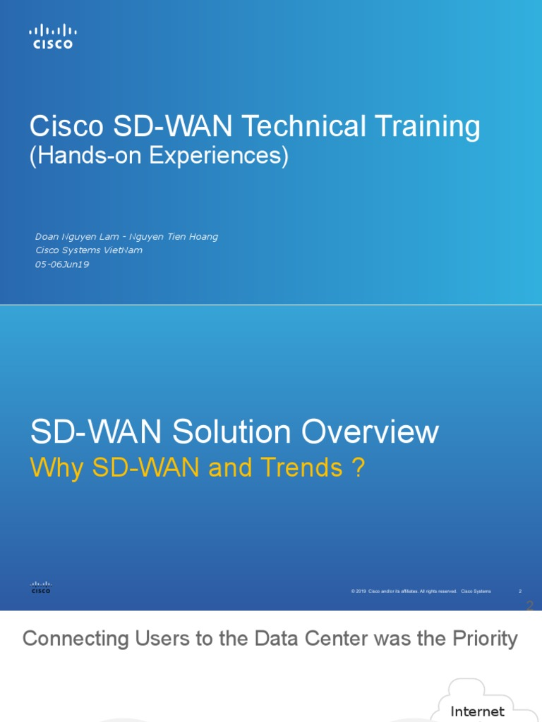 Cisco Sd Wan Technical Training Vn 05jun19 Lamdoan