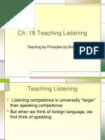 the teaching of listening