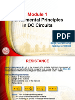 Fundamental Principles in DC Circuits