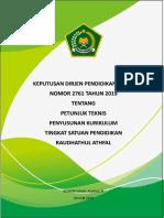 12. Juknis Penyusunan Kurikulum Tingkat Satuan Pendidikan RA