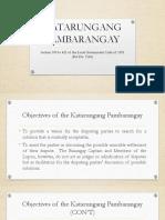 KATARUNGANG PAMBARANGAY (2019)