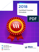 Certified Training Courses Catalogue 2018