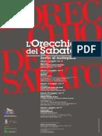 Manifesto L'Orecchio del Sabato 2019