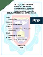 TRABAJO DE CAMARA GESSEL