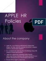 Apple Hr Policies