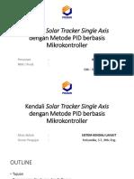 KENDALI SOLAR TRACKER SINGLE AXIS DENGAN METODE PID BERBASIS MIKROKONTROLER
