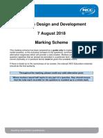 DDD Exam Mark Scheme Autumn 2018