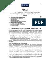 Tema1 La Organización y Su Estructura