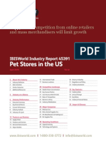 45391 Pet Stores in the US Industry Sample Report