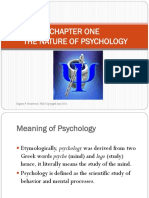 1 Nature of Psychology