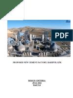 Cement Factory Design Criteria
