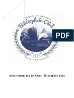 Bibliophile Club Constitution and by Laws