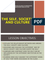 The self Society Culture