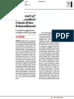 """Con """"Blend up!"""" gli imprenditori evitano fraintendimenti - Il Corriere Adriatico dell'8 luglio 2019"""