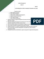 Logistics Management Sessional Final